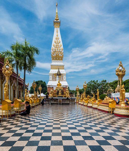 Wat Phra That Phanom That Phanom in Thailand van Theo Molenaar