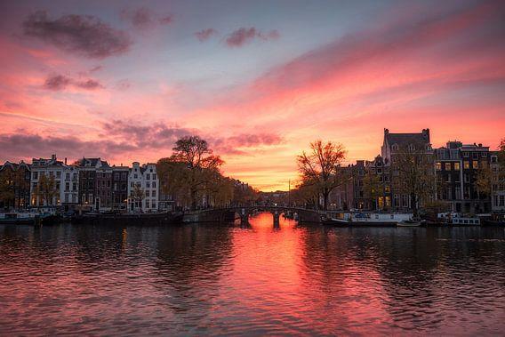 Amsterdam Sunset van Angel Flores