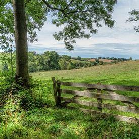Uitzicht op de Zuid-Limburgse heuvels bij Mamelis van John Kreukniet