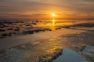 Das Wattenmeer in schönem Licht von Karla Leeftink
