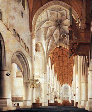 Haarlem, Interieur van de Grote Kerk,  Pieter Jansz. Saenredam - 1648 van Atelier Liesjes