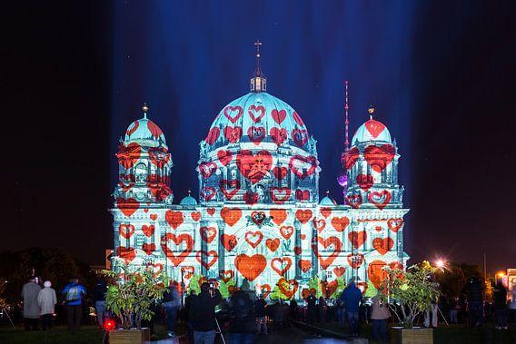 Berlijnse kathedraal met harten