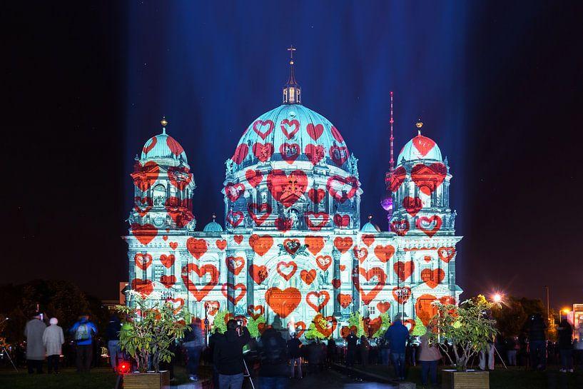 Berlijnse kathedraal met harten van Frank Herrmann