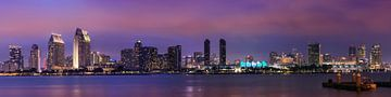 SAN DIEGO Skyline le soir | Panorama sur Melanie Viola
