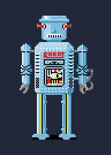 Retro Robot von Nele Van de Mosselaer