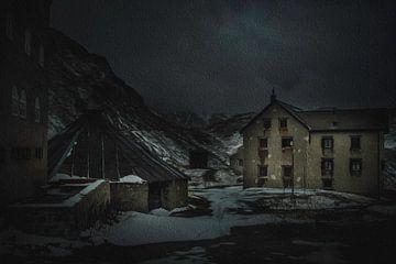 Foto-malerei von Gothard pass von Mojca Osojnik