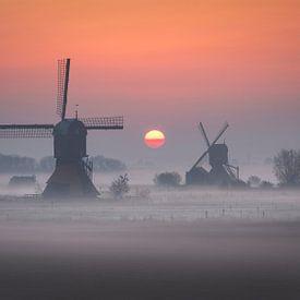 Molens bij zonsopgang II van Sven Broeckx