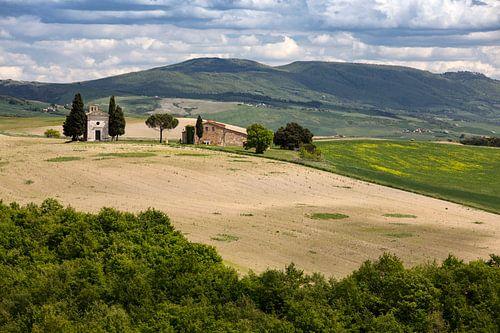 Vitaleta Kapelle in der Toskana von