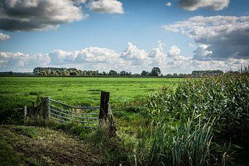 Hollandse lucht boven Zuid-Hollands polderlandschap van Kees van der Rest