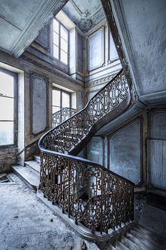 Magnificent Treppe in verlassenen Villa von
