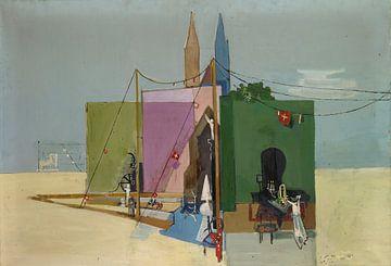 Coherences (Studie voor muurschildering), Walter Kurt Wiemken