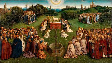 Jan van Eyck, Das Lamm Gottes zentrales Gremium der Anbetung, 1432 von Atelier Liesjes