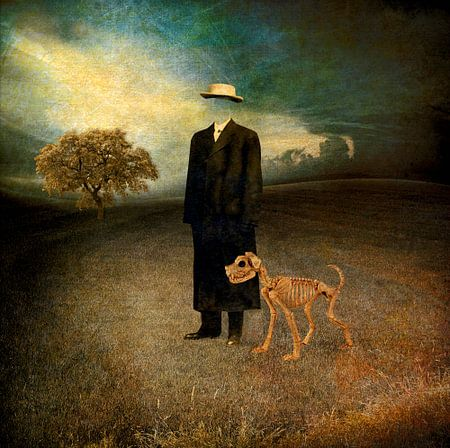 Monsieur Magritte et son chien