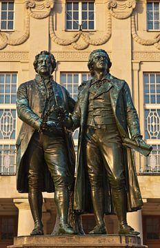 Monument Goethe et Schiller à Weimar sur Werner Dieterich