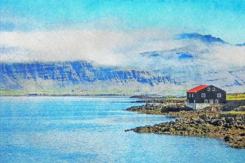 De fjord en de bergen van Frans Blok