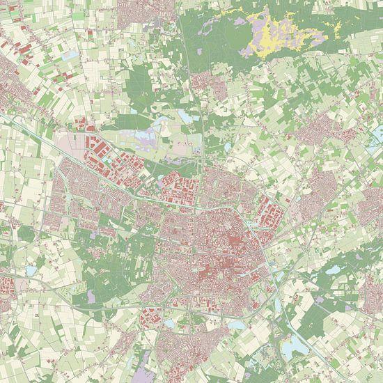 Kaart vanTilburg van Rebel Ontwerp