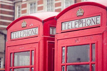 Telefooncel in Londen van Callista de Sterke