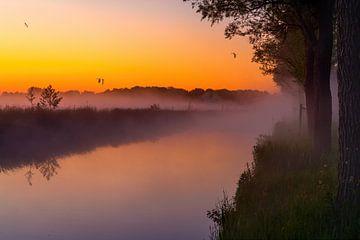 Sonnenaufgang auf der Bonkevaart von Marcel Kieffer
