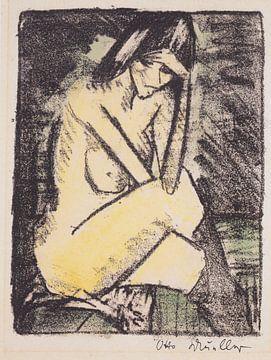 Sitzende in Strümpfen, Otto Mueller - 1924