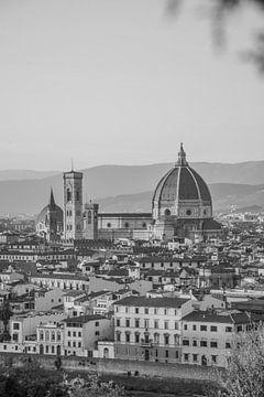 Uitzicht over Florence en kathedraal van Bianca Kramer
