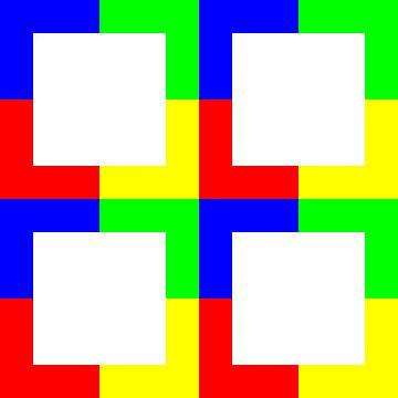 Color-Permutation | ID=12 | V=50 | P #01 | W-RBGY van Gerhard Haberern
