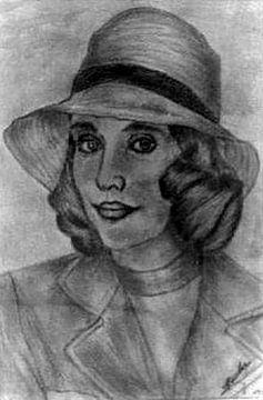 Vrouw met hoed-Woman with Hat-Femme avec chapeau-Frau mit Hut von aldino marsella