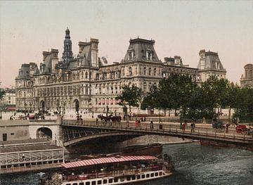 Hôtel de Ville, Paris van Vintage Afbeeldingen