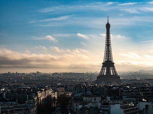 Close-up van de Eiffeltoren in Parijs