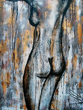 nackte Dame von Femke van der Tak (fem-paintings)