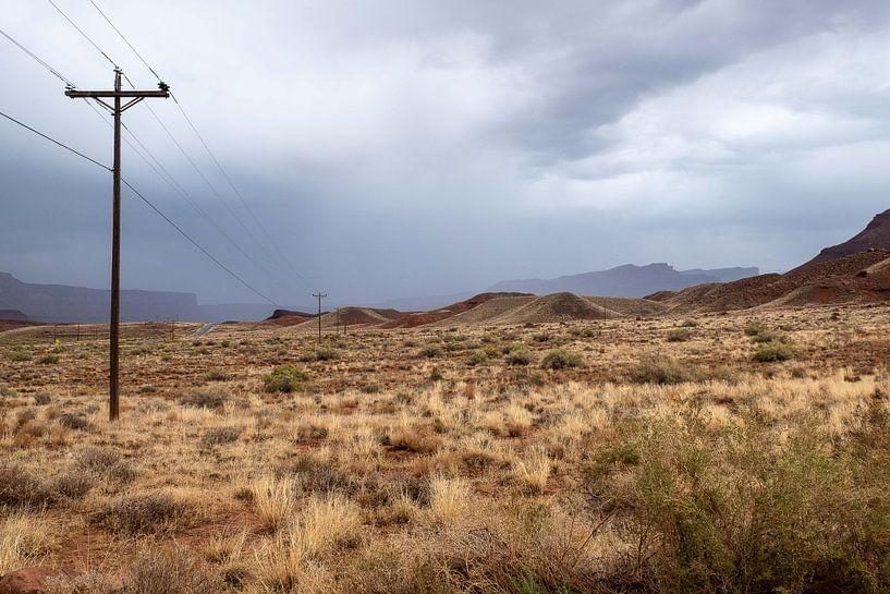 Woestijnlandschap bij Castle Valley, Utah van John Faber