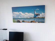 Photo de nos clients: Cheval de Marken, Pays-Bas. phare sur Rietje Bulthuis, sur toile