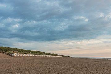 Strandhuisjes Texel van MdeJong Fotografie