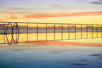 Zwembad aan de Atlantische Oceaan, Madeira van Michel van Kooten
