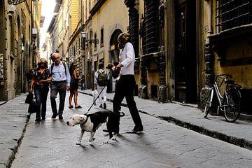 Man met hond von Arno Maetens