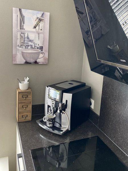 Photo de nos clients: l'heure du café à Groningue sur Elianne van Turennout, sur acryl