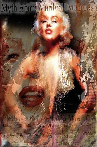 Marilyn Glamour News Marilyn Monroe Pop Art van Leah Devora