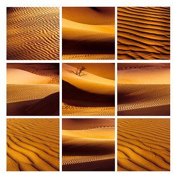 Saharazandcollage van Rob van der Pijll