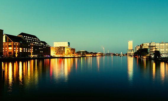 Berlin at Night - Spree River Panorama