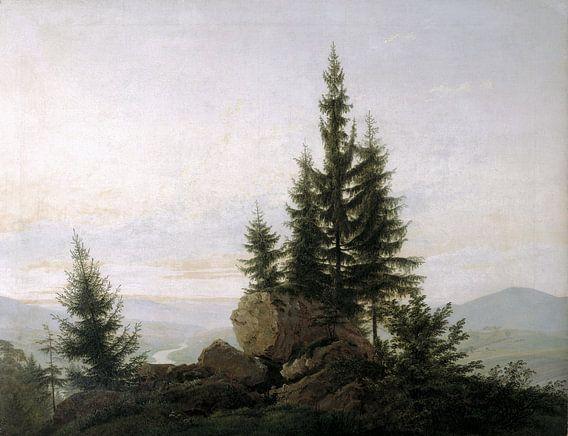 Caspar David Friedrich. Landschap van 1000 Schilderijen