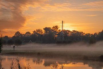Windmühle im Nebel von Stephen Young