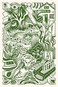 Doodle de fantaisie 2 sur Simon van Kessel