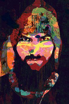 Baarden zijn sexy - man met baard, snor en muts van The Art Kroep