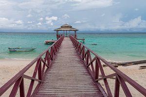 Mantanani eiland bij Borneo in Maleisie van