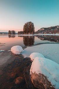 Zweden rivier in de winter