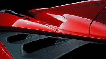 Lamborghini Veneno   Supercar rouge sur Jesse Barendregt