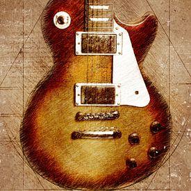 Gitaar muziek kunst #guitar van JBJart Justyna Jaszke