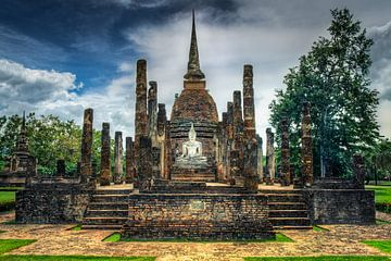 Wat Sa Si in Sukhothai van Sven Wildschut