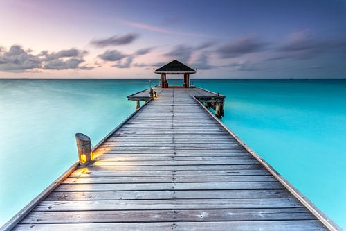 Steg Malediven van Markus Busch
