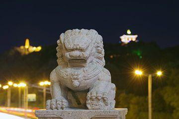 Chinese leeuw Urumqi van Andrew Chang