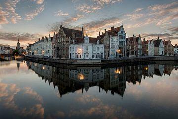 de spiegelrei in Brugge, Bruges, Belgie, Belgium van